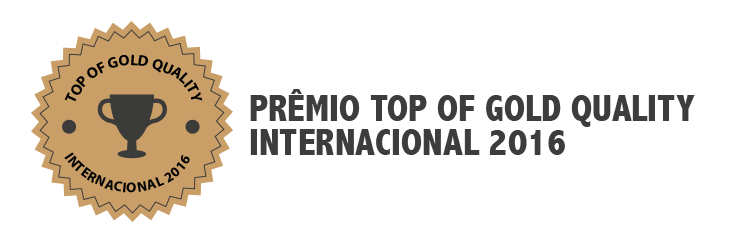 Selo Prêmio Top Of Gold Quality Internacional 2016